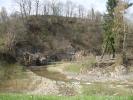 Річка Тишівниця в центрі села Труханів